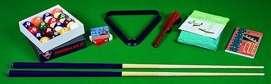 POOL-Tischzubehör-Set für Pool-Billardtische
