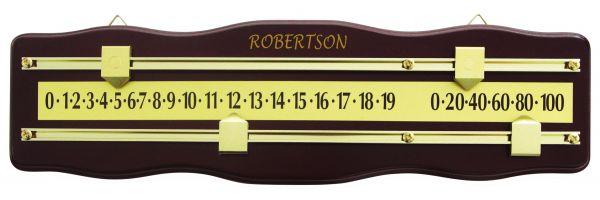 Anzeigetafel Robertson für Pool/Snooker, 2 Spieler