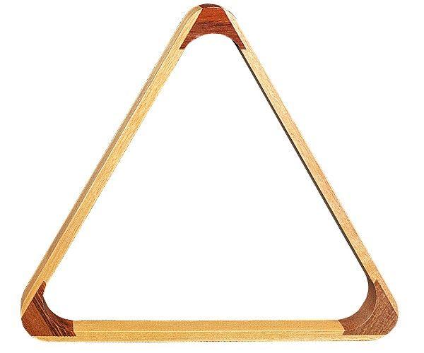 Triangel HOLZ-NATUR für POOL-Kugeln. 57,2 mm