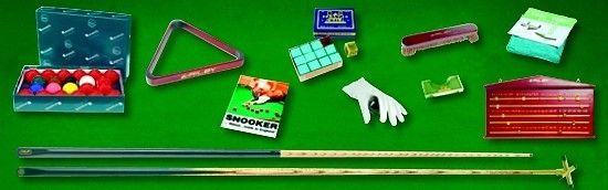 SNOOKER Tisch Zubehör-Set mit komplettem, reichhaltigem Spielzubehör für Snooker