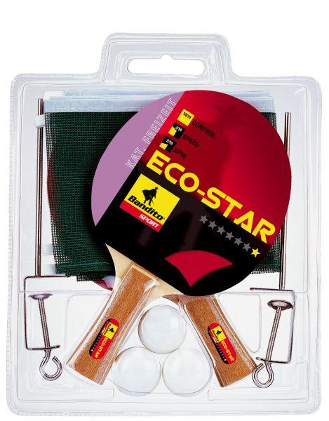 Tischtennisschläger-Set Bandito Eco Star * (2 Schläger, 3 Bälle, 1 Netz)