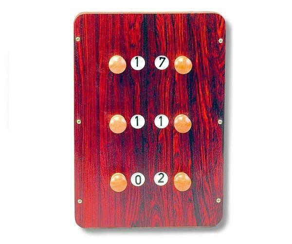 Anzeigetafel mit 3 Zählern, Abmessung ca 30 x 25 cm