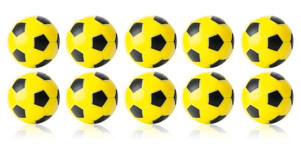 Kickerball Winspeed by Robertson 35 mm, gelb / schwarz, Set mit 10 St.
