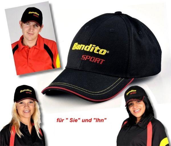 """Dart-Cap mit hochwertiger Bestickung des Original """"Bandito""""-Schriftzuges"""