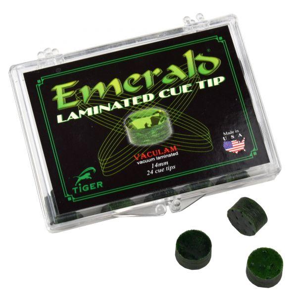 Klebeleder Tiger Emerald medium hart 14mm