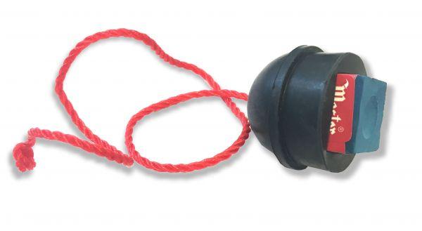 Kreidehalter Gummi, schwarz, mit Kordel