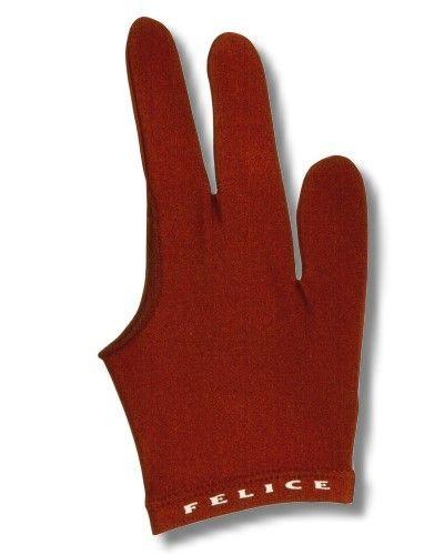 """Billard-Handschuh, FELICE """"DUNKELROT"""", für rechte und linke Hand,"""