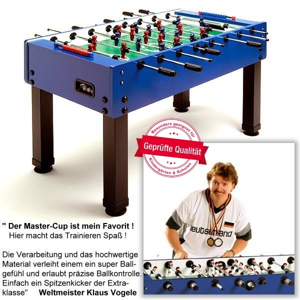 Fußballkicker GARLANDO MASTER-CUP, mit Standardstangen (ST)