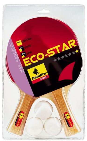 Tischtennisschläger-Set Bandito Eco Star * (2 Schläger, 3 Bälle)