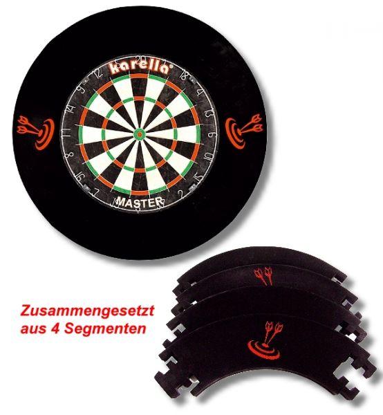 Dart-Catchring (Dart-Auffangring), schwarz, Material: Stoff (Velvet), Durchmesser ca. 70 cm