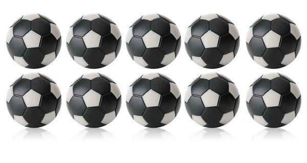Kickerball Winspeed by Robertson 35 mm, schwarz / silber, Set mit 10 St.