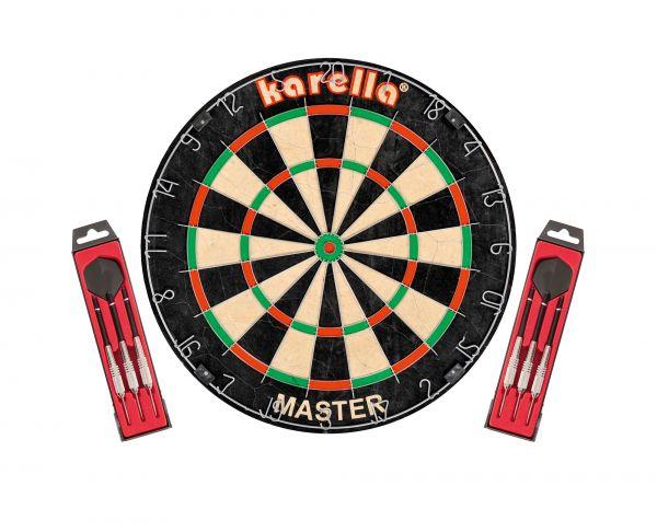 Dartboard-Set Karella Master inkl. Steeldarts ST1