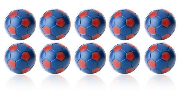 Kickerball Winspeed by Robertson 35 mm, blau / rot, Set mit 10 St.