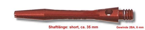 Shaft Alu short, ca. 35 mm, rot