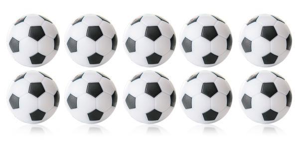 Kickerball Winspeed by Robertson 35 mm, weiß / schwarz, Set mit 10 St.