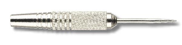 Steeldart - Barrel, mit Metallspitze, Nickel/Silber eloxiert, Gewicht 19g, Länge: 50mm