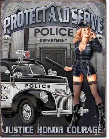 """Blechschild """"Police Department"""""""