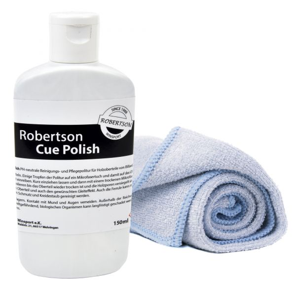 Cue Cleaning Polish Robertson 150ml inkl. Mikrofasertuch