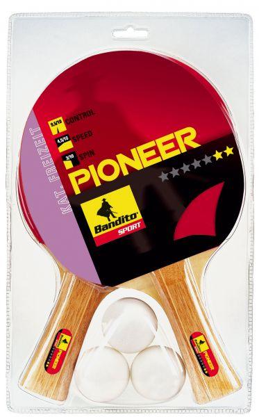 Tischtennisschläger-Set Bandito Pioneer ** (2 Schläger, 3 Bälle)