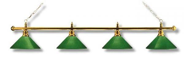 Billardleuchte Modell LONDON, 4 Schirme,Länge 180 cm, Schirmdurchmesser 35 cm
