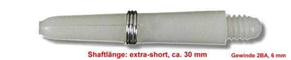 Shaft Nylon + Ring extra short, ca. 30 mm, weiß