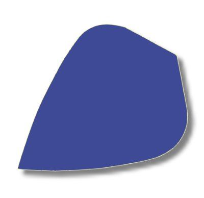 Dartfly Nylon Kite, blau