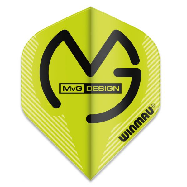 Dart-Fly Winmau MvG MEGA, Standard Form, 6900-233 grün