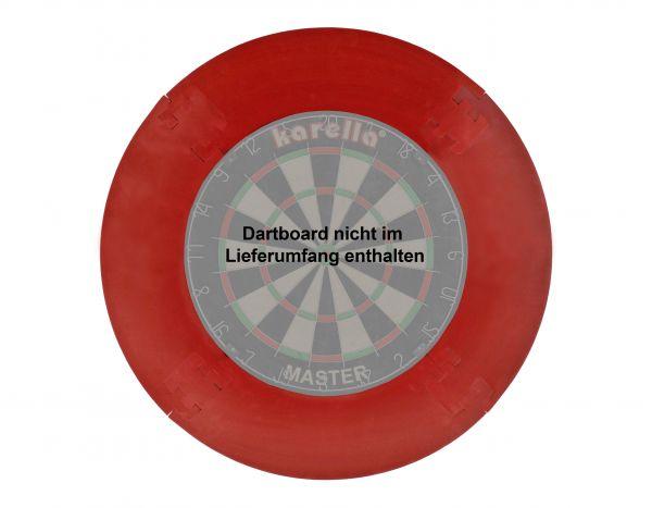 Dart-Catchring (Dart-Auffangring), rot, Material: Stoff (Velvet), Durchmesser ca. 70 cm