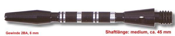 Shaft Alu Stripe medium,ca 45 mm, schwarz