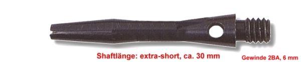 Shaft Alu extra short, ca.30 mm, schwarz