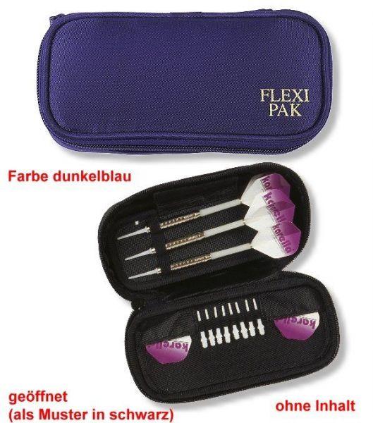 Darttasche FLEXI-PAK , Farbe dunkelblau, für Steel- und Softdarts