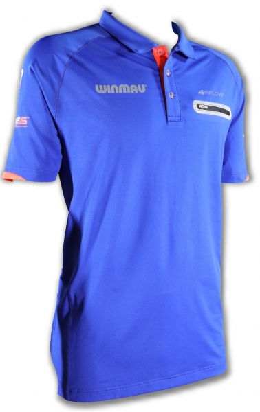 """Winmau Polo-Dart Shirt """"Pro-Line"""" blau 8397"""