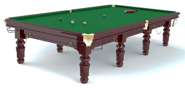 "Snookertisch ROBERTSON ""Tournament"", aus Ahorn Massivholz, mahagonifarben gebeizt,"