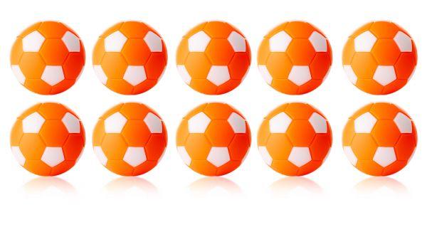 Kickerball Winspeed by Robertson 35 mm, orange / weiß, Set mit 10 St.